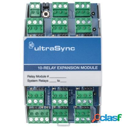 Interlogix modulo de expansión ultrasync um-r10 de 10 relevadores