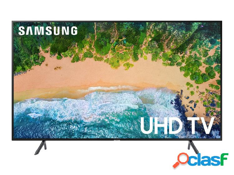 Samsung smart tv led nu7100 65'', 4k ultra hd, widescreen, negro