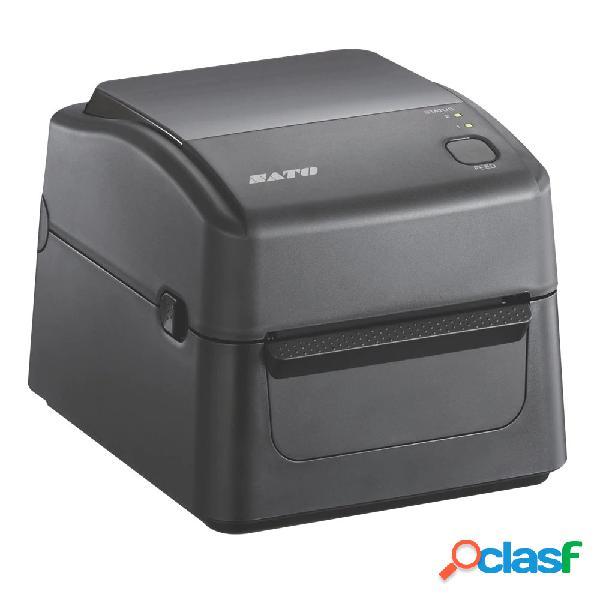Sato yunker ws408 impresora de etiquetas, transferencia térmica, 203dpi, ethernet/rs-232/usb, negro