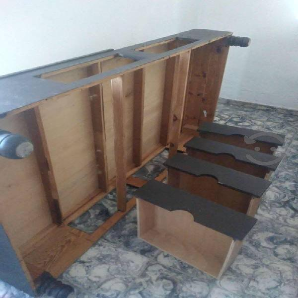 Base cama individual madera