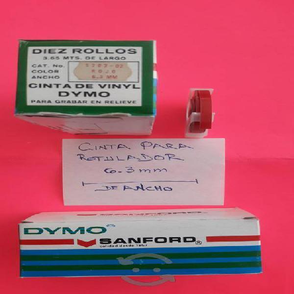 Cintas para rotulador dymo 6.3/9.5/12.7 mm.
