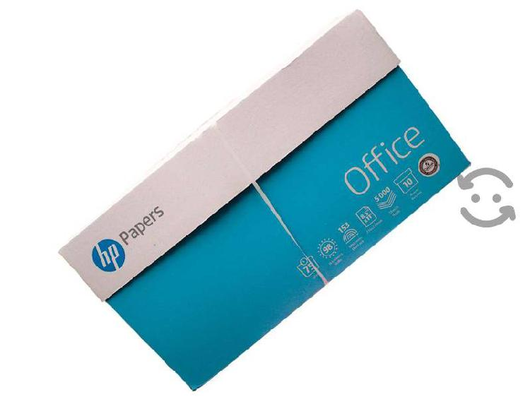 Caja de papel bond carta hp 5000 hojas