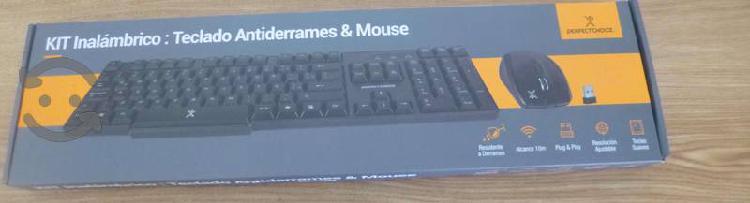 Kit teclado y mouse inalambricos perfect choice