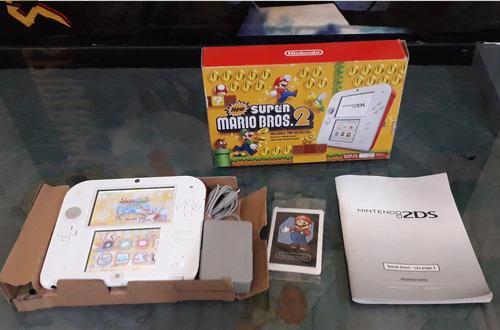 Nintendo 2ds con new super mario bros 2 con juegos cargados