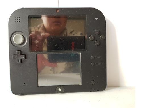 Nintendo 2ds negro azul stilus y memoria sin fallas ni detal