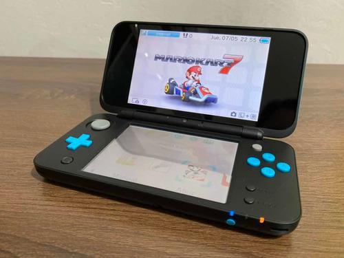 Nintendo 2ds xl mario kart 7 bundle - negro/turquesa