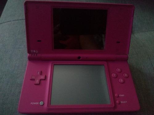 Nintendo ds rosa con juegos y estuche