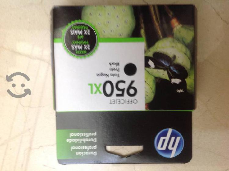 Vendo cartuchos tinta negra hp 950 xl nuevos 53 ml