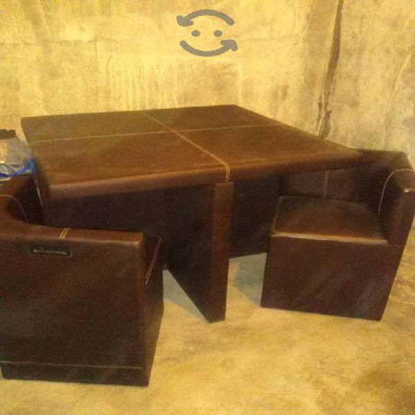 Antecomedor de vinil 4 sillas
