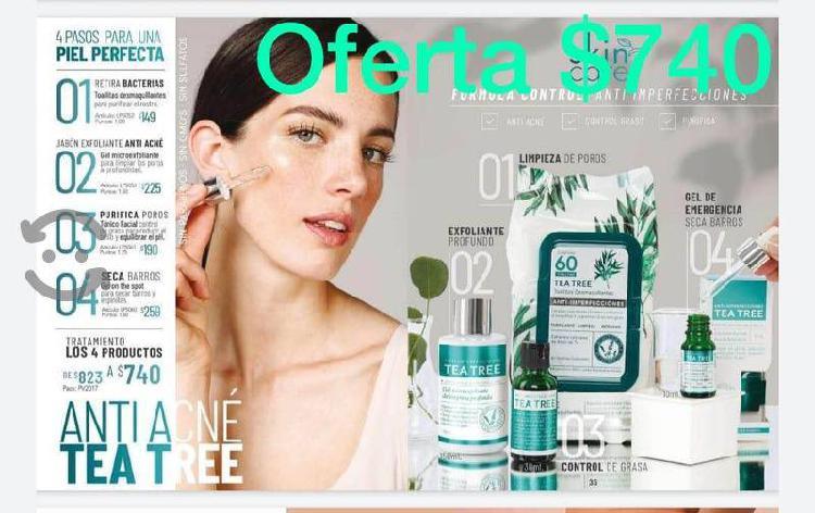 4 productos limpieza facial