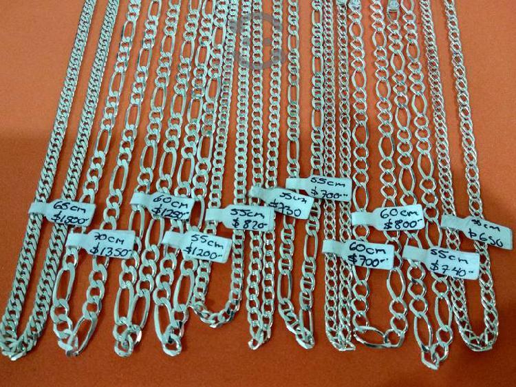 Cadenas de plata 925 nuevas precio en c/u