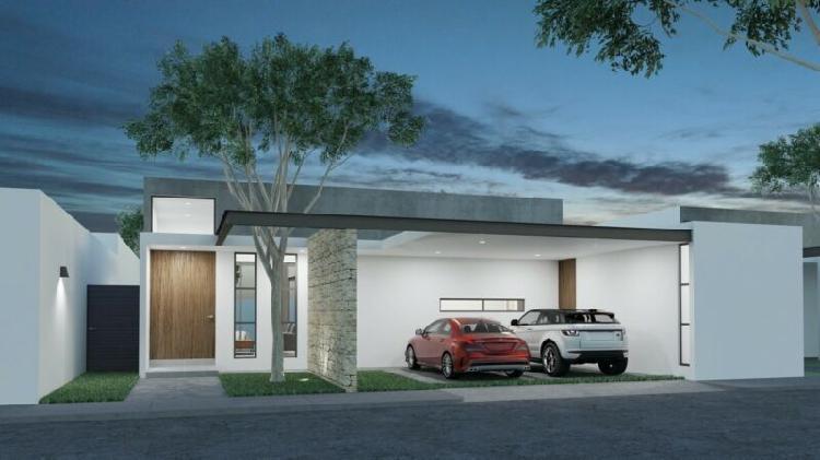 Casa nueva de una planta en venta, mirova modelo 5, dzitya,