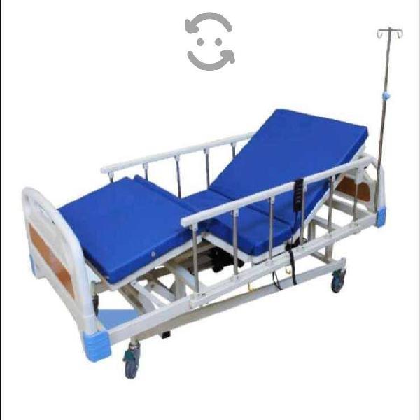 Cama de hospital 5 posiciones, con doble colchon