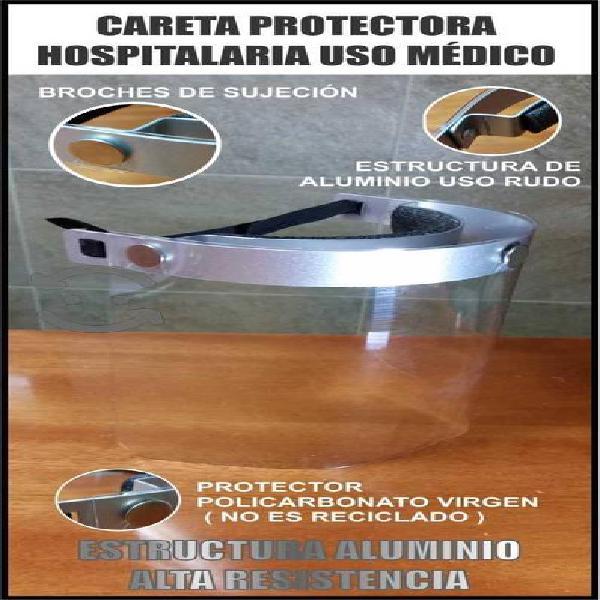 Caretas protección estructura de aluminio