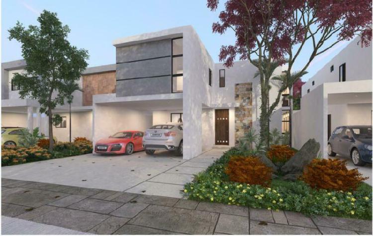 Casa en venta,cerca de Mérida, con Paneles y Piscina Mod.