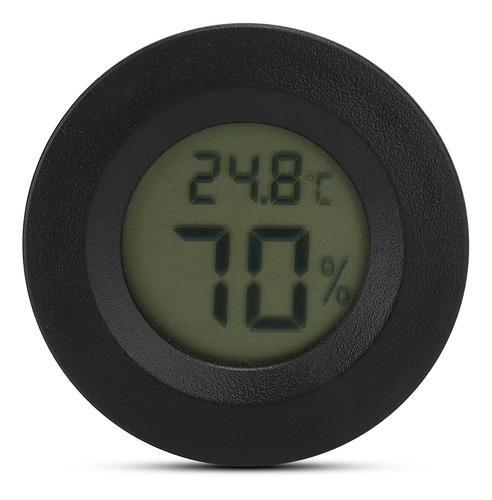 Integrado redondo redondo reptiles termómetro higromete