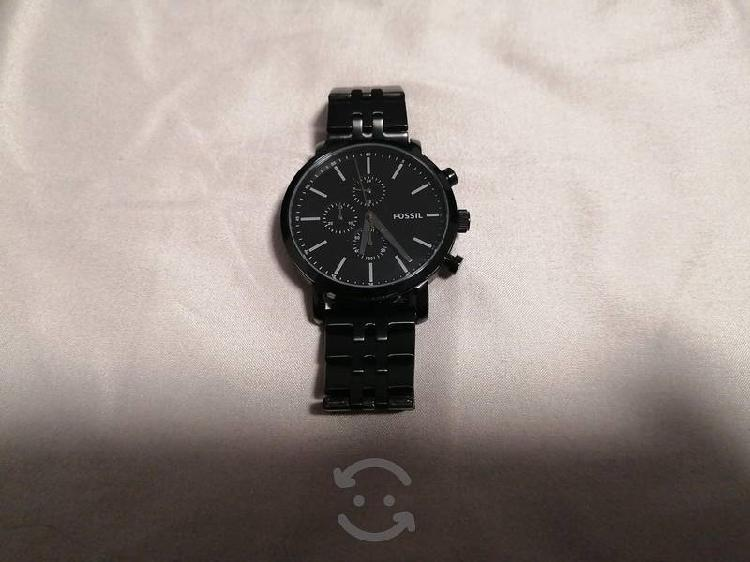 Reloj fossil negro acero inoxidable