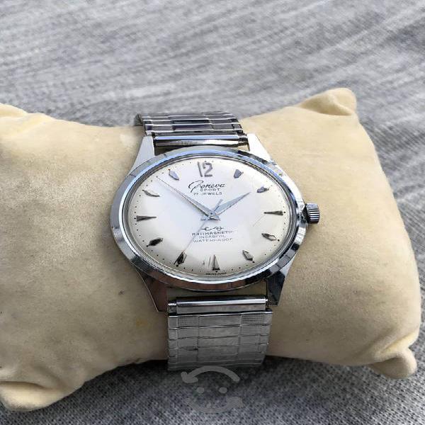 Reloj geneva sport swiss suizo antiguo cuerda manu