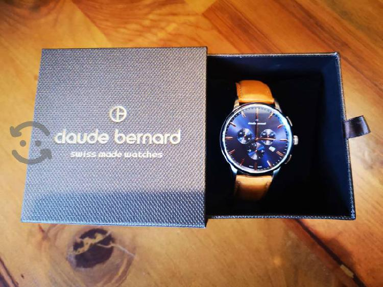 Reloj suizo claude bernard zafiro cronografo