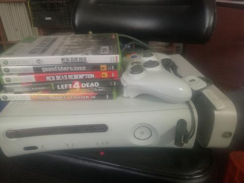 Xbox 360 60gb 5 juegos auricular inalambrico sin fallas cdmx