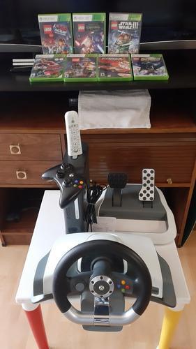 Xbox 360 con volante,control y 7 juegos