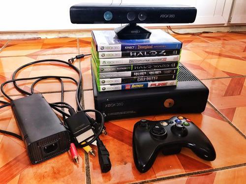 Xbox 360 + kinect + 9 juegos
