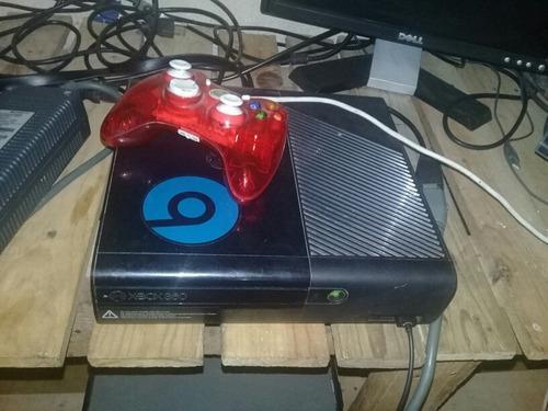 Xbox 360 slim e rgh 750gb lleno de juegos + control