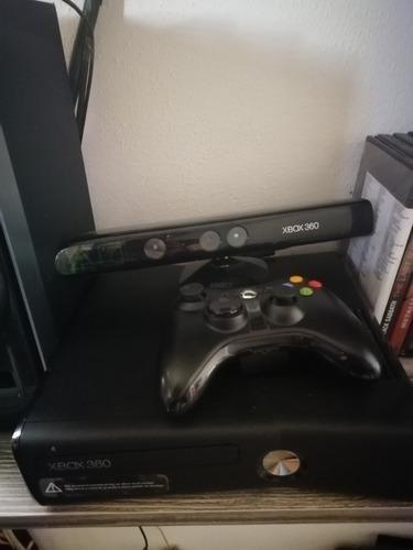 Xbox360 20gb con control, kinect, 5 juegos y disco duro