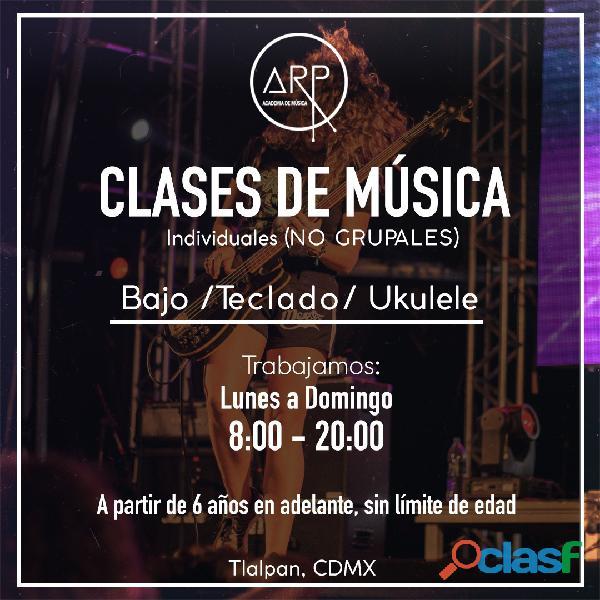 Academia de Música ARP. Guitarra, Batería, Piano, Canto, Bajo, Teclado. 1