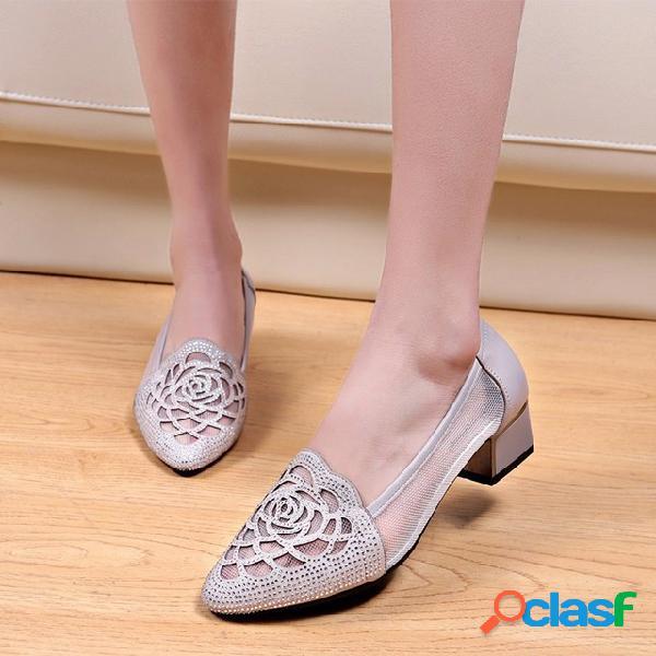 Nueva temporada de zapatos para mujer de moda con zapatos huecos salvajes gruesos con malla de zapatos individuales baotou sandalias