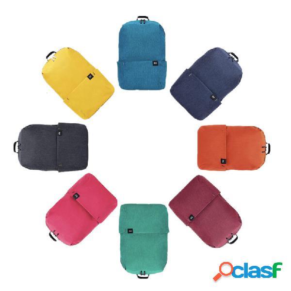 Original xiaomi 10l mochila 8 colores nivel 4 repelente al agua al aire libre paquete para hombre mujer