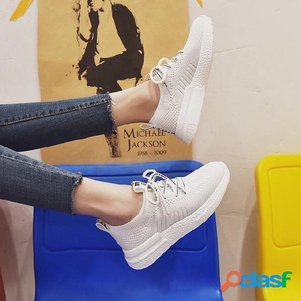 Zapatos de mujer malla zapatillas de deporte transpirables estudiantes zapatos casuales antideslizantes zapatos para correr