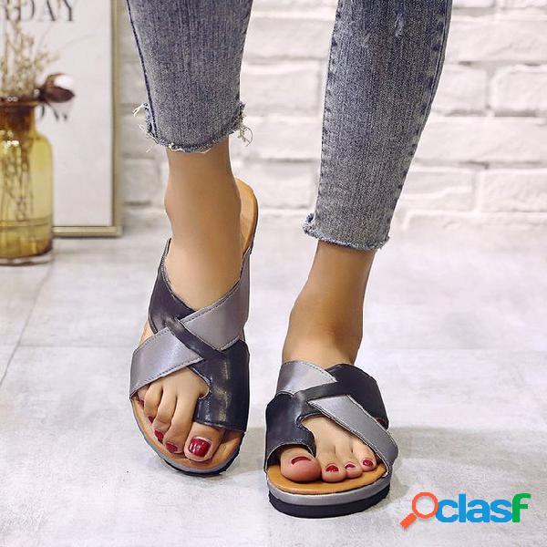 Season new flat casual playa zapatos mujer dedo zapatillas mujer sandalias
