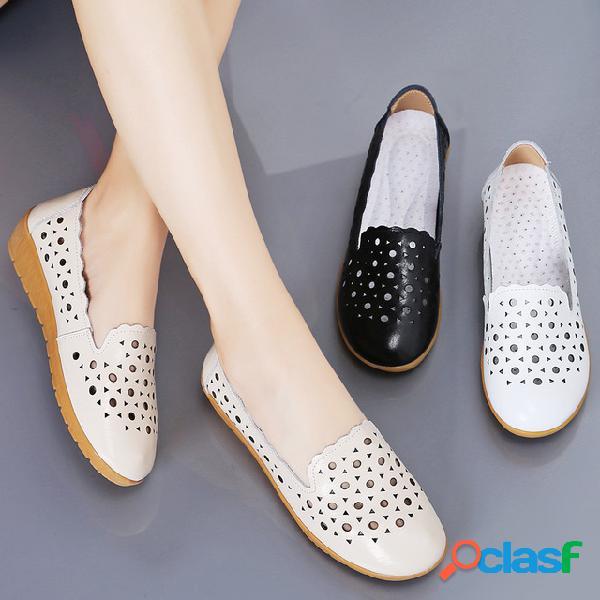 Agujero zapatos mujer antideslizante suela gruesa estudiantes linda embarazada mujer sandalias season wild sandalias enfermeras playa zapatos