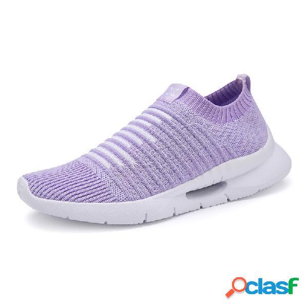 Zapatillas de deporte de malla con costura de color y zapatillas deportivas para correr