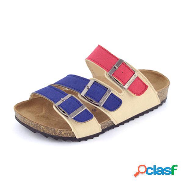 Zapatos para niños unisex leisure playa corcho de madera blanda zapatillas