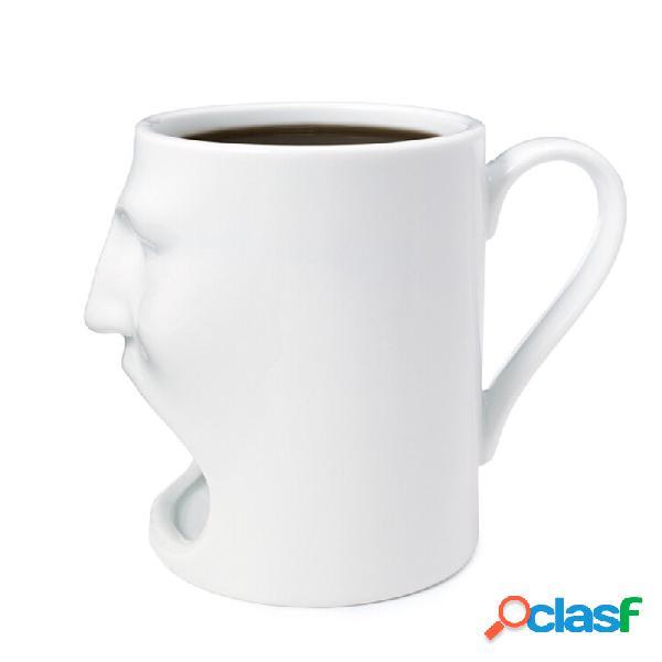 Taza de café con el bolsillo de la galleta tazas taza de café de la tarde del té de la leche del desayuno de cerámica tazas