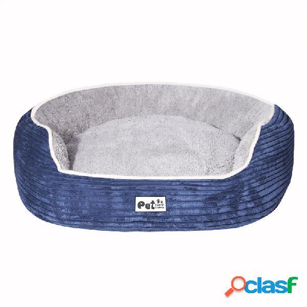 Lujo felpa mascota perro gato invierno cama estera cachorro perrera caliente con cojín
