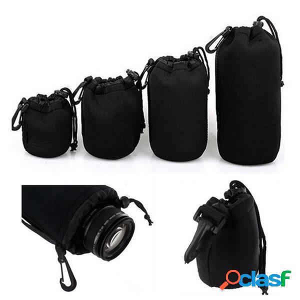 Bolsa suave de la bolsa de la lente del neopreno sml xl de 4pcs para la cámara de canon nikon sony pentax dslr