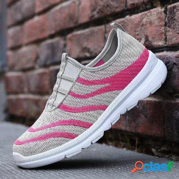 Zapatillas deportivas de malla para mujer, cómodas y antideslizantes