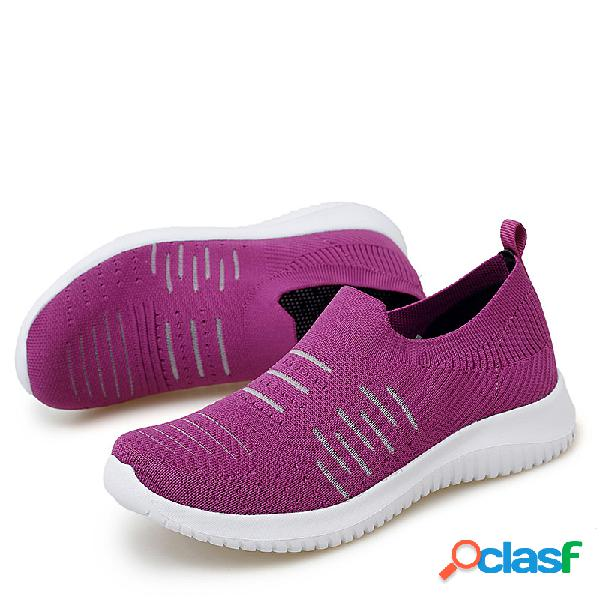 Zapatillas sin cordones transpirables y ligeras con malla