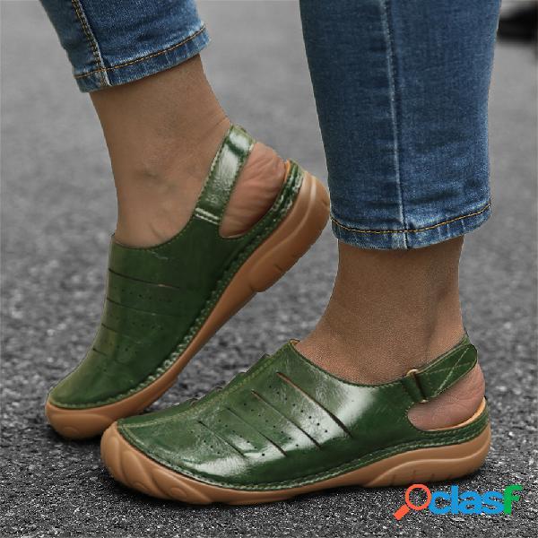 Pérdida gancho tobillo de dedo de pie en bucle cómodo mujer slingback sandalias