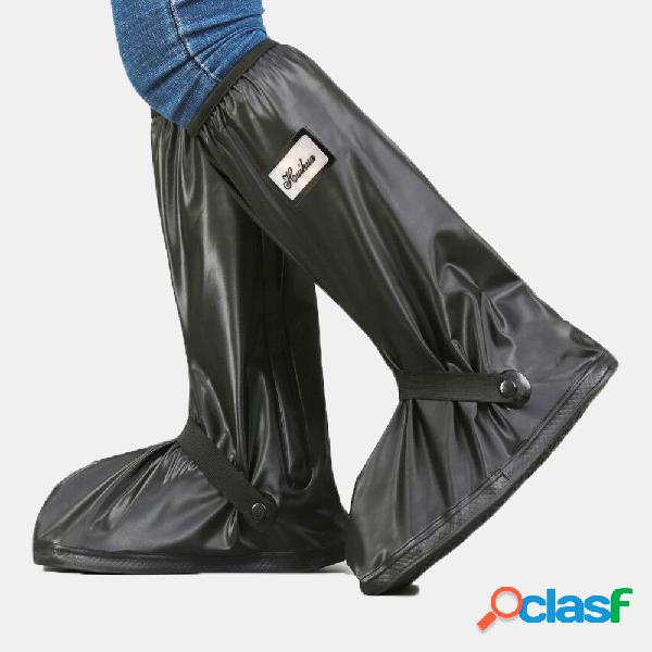Pvc mujer hombre rain shoes cover cremallera impermeable rain antideslizante high botas flats
