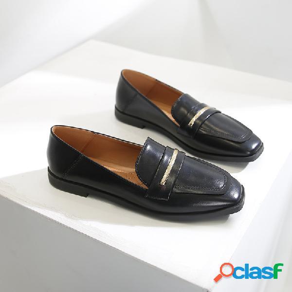 Mujer vestido zapatos matel decor slip on planos mocasines