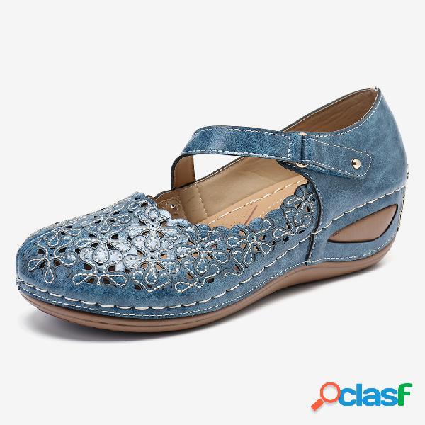 Lostisy mujer zapatos cómodos para vestir gancho loop mary june wedges