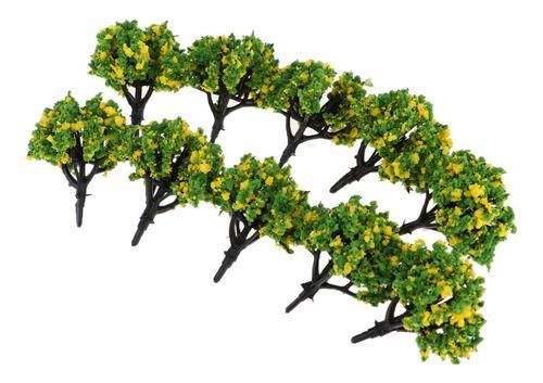 10 piezas 1:200 escala ho modelo árboles tren escena