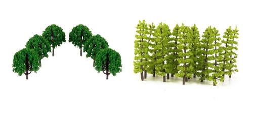 1/100 ho escala 7-9 cm tren ferrocarril paisaje árbol