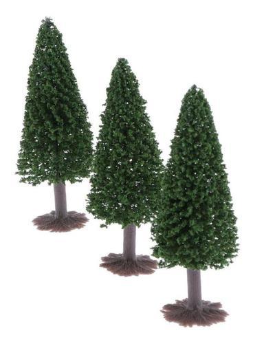3x10cm ho oo modelo a escala árboles diorama wargame