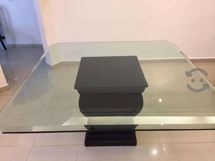 Comedor base de caoba cristal de 19 mm y 8 sillas