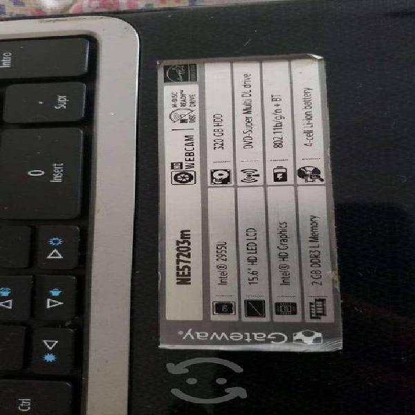 Laptop gateway dañada solo display (pantalla)